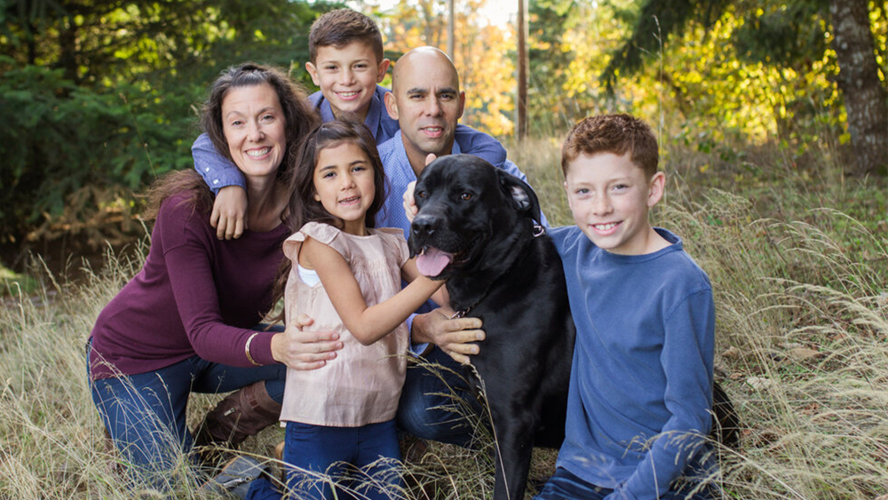 Portrait of co-owner Joe Hoda with family